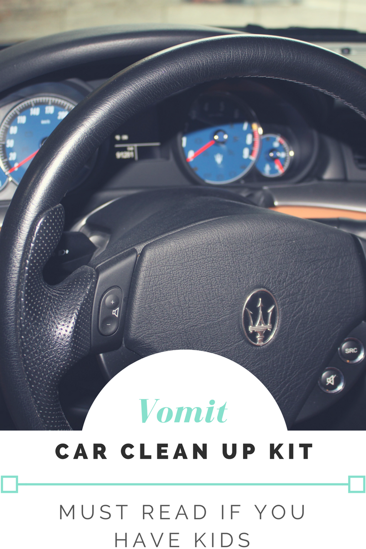 how to clean vomit from car