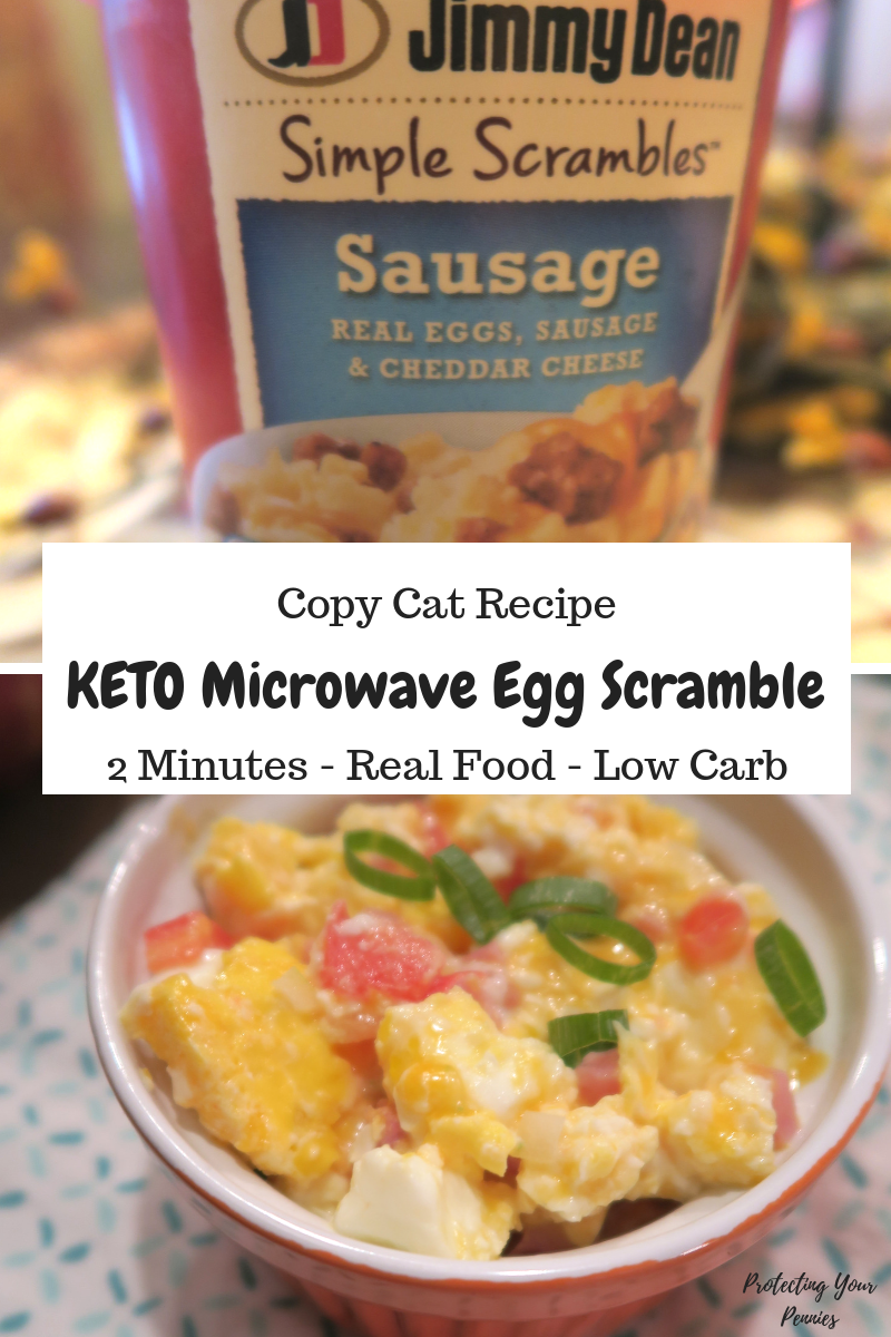 2 Minute Keto scrambled Eggs in the Microwave scramble copy cat jimmy dean egg scramble
