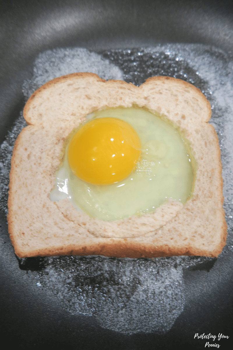 Egg in a Basket Uncooked