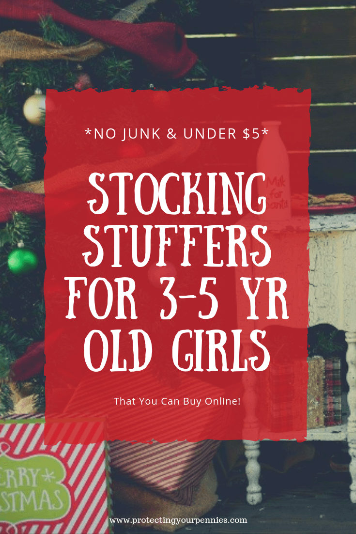 No Junk and Under $5 Stocking stuffers for 3-5 year old preschool girls. If you need cheap budget ideas for your kid's stocking but don't want to compromise quality, this list is for you. Fun small Christmas gifts that will entertain and keep the kids busy.