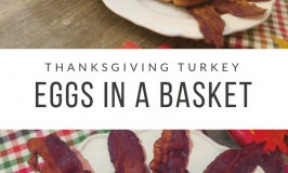 Thanksgiving Turkey Shaped Eggs In A Basket
