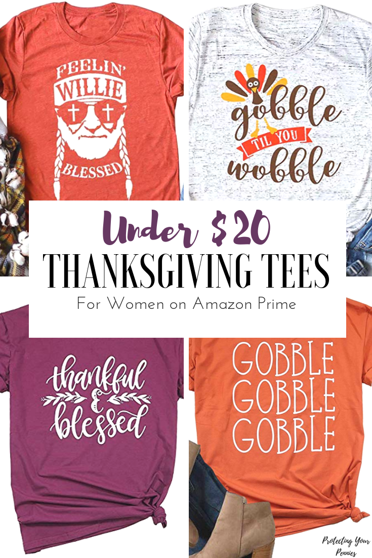Under $20 trendy Thanksgiving shirts on Amazon for Women